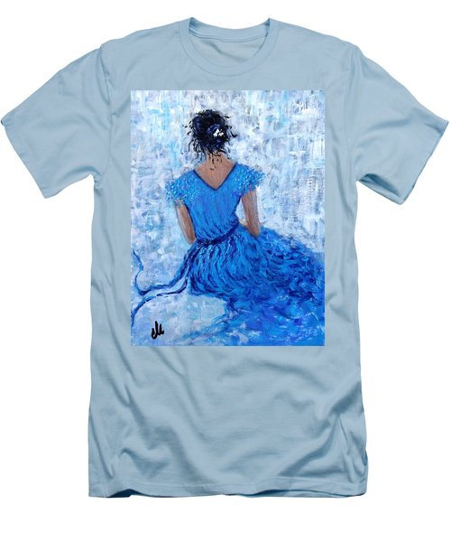 Men's T-Shirt (Slim Fit) featuring the painting Wind Of Hope.. by Cristina Mihailescu