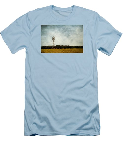 Windmill On The Farm Men's T-Shirt (Slim Fit) by Beverly Stapleton
