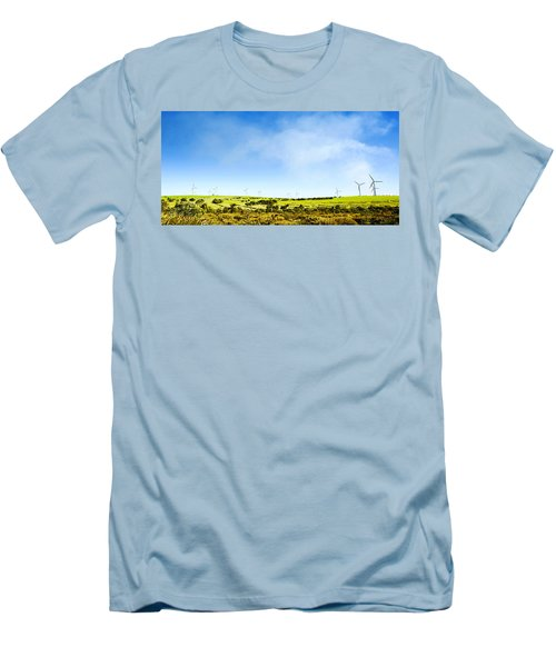 Men's T-Shirt (Slim Fit) featuring the photograph Windmill by Yew Kwang