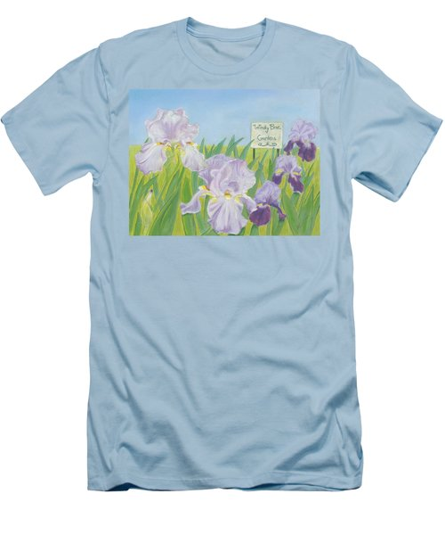 Men's T-Shirt (Slim Fit) featuring the painting Windy Brae Gardens by Arlene Crafton