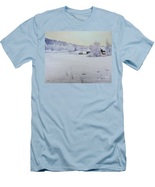 Winter Blanket Men's T-Shirt (Athletic Fit)