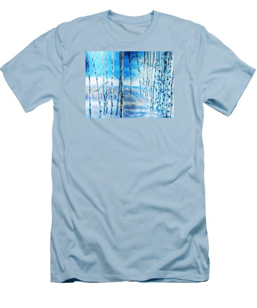 Winter Blues Men's T-Shirt (Slim Fit) by Patti Gordon