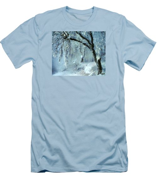 Men's T-Shirt (Slim Fit) featuring the painting Winter Dreams by Dragica  Micki Fortuna