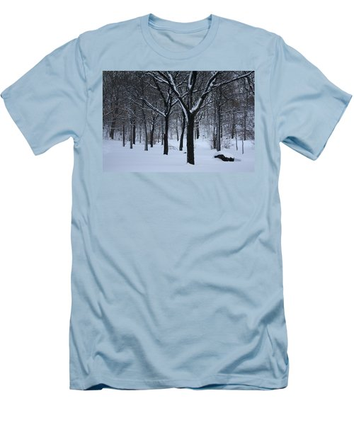 Men's T-Shirt (Slim Fit) featuring the photograph Winter In The Park by Dora Sofia Caputo Photographic Art and Design