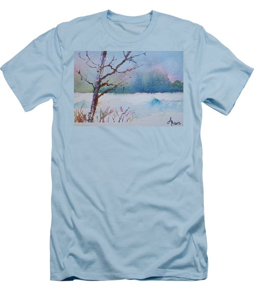 Winter Loneliness Men's T-Shirt (Slim Fit) by Anna Ruzsan