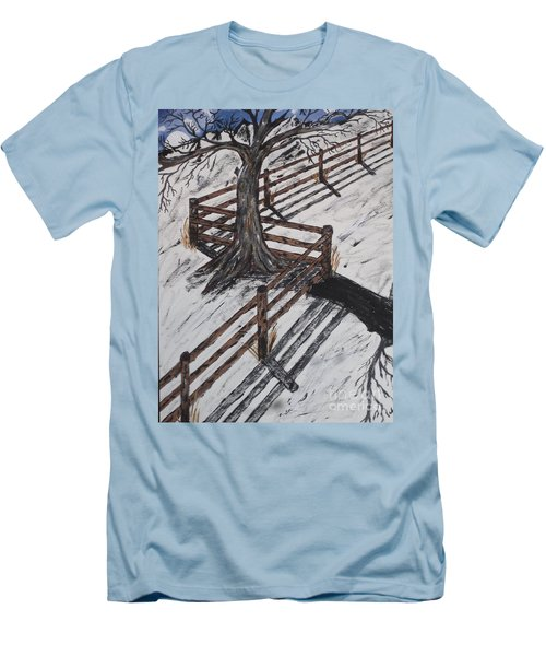 Winter Moon Shadow Men's T-Shirt (Slim Fit) by Jeffrey Koss