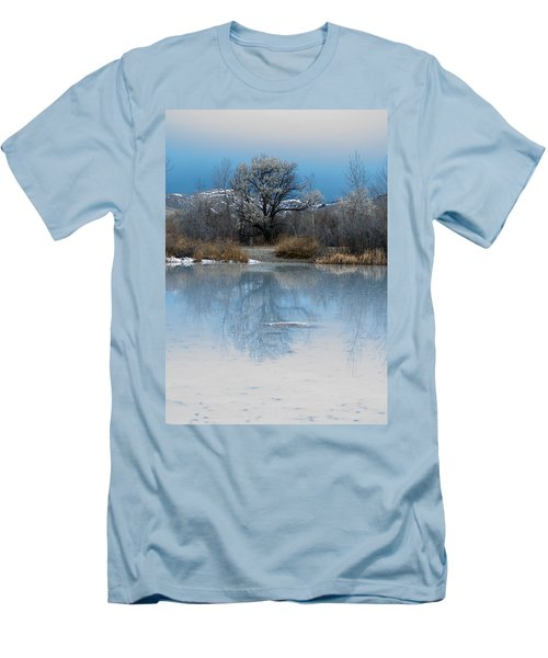 Winter Taking Hold Men's T-Shirt (Slim Fit) by Fran Riley