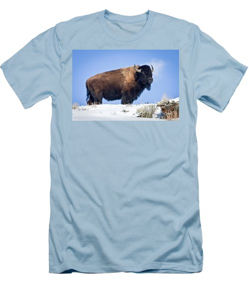Men's T-Shirt (Slim Fit) featuring the photograph Winter Warrior by Jack Bell