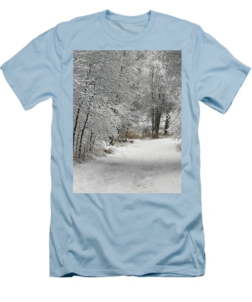 Men's T-Shirt (Slim Fit) featuring the photograph Winter's Kiss by Don Schwartz