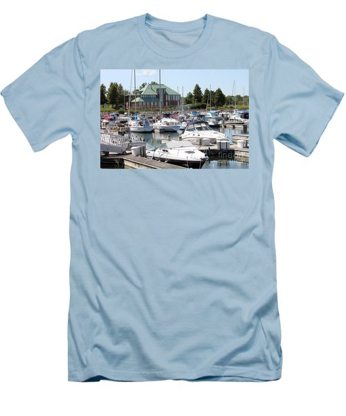 Men's T-Shirt (Slim Fit) featuring the photograph Winthrop Harbor by Debbie Hart