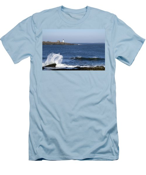 Wood Island Light Men's T-Shirt (Athletic Fit)