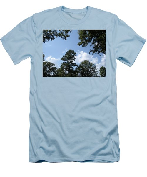 Wooded Forest  Men's T-Shirt (Slim Fit) by Joseph Baril