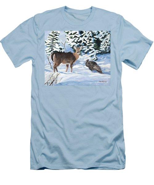 Woodland Creatures Meet Men's T-Shirt (Athletic Fit)