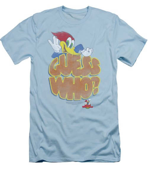Woody Woodpecker - Guess Who Men's T-Shirt (Slim Fit) by Brand A