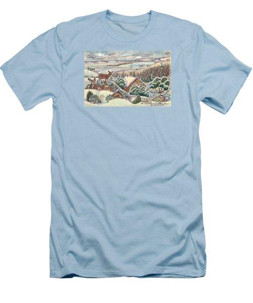 Wyoming Christmas Men's T-Shirt (Slim Fit) by Dawn Senior-Trask