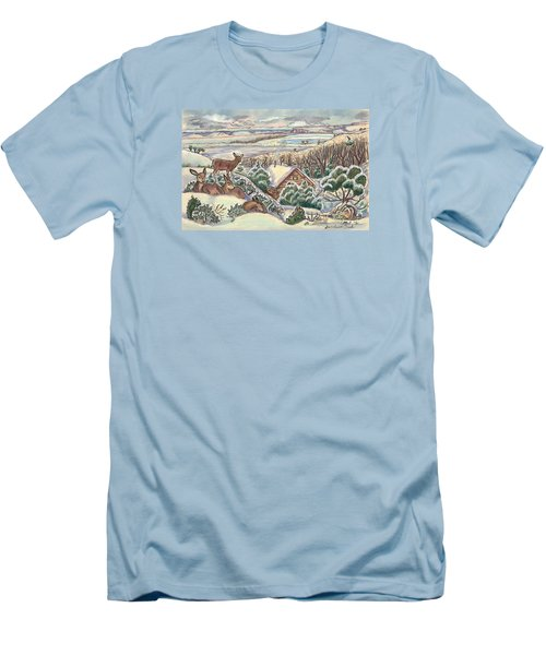 Wyoming Christmas Men's T-Shirt (Athletic Fit)