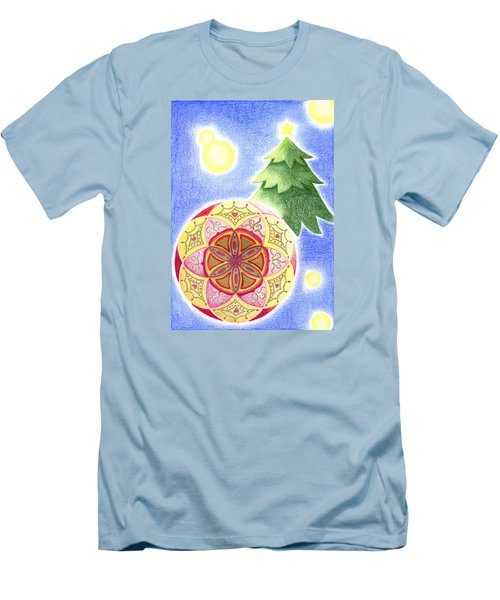 Men's T-Shirt (Slim Fit) featuring the drawing X'mas Ornament by Keiko Katsuta
