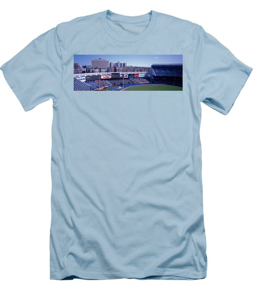 Yankee Stadium Ny Usa Men's T-Shirt (Slim Fit) by Panoramic Images