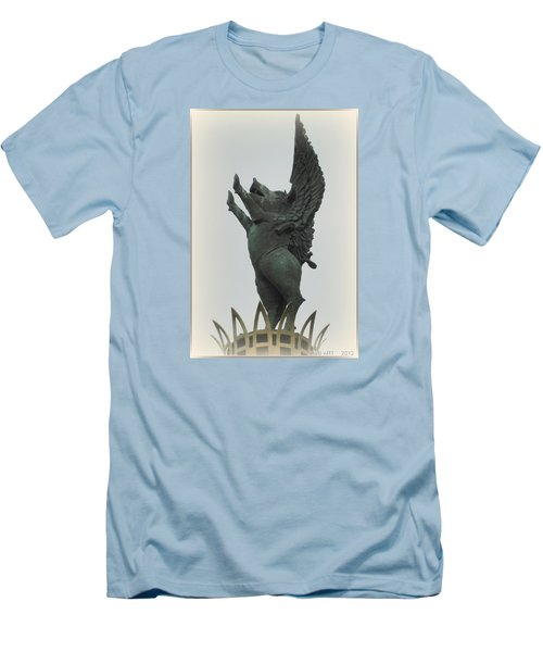 Yay Pigs Do Fly Men's T-Shirt (Slim Fit) by Kathy Barney