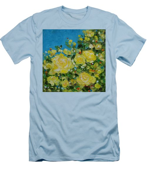 Yellow Roses Men's T-Shirt (Slim Fit) by Judith Rhue