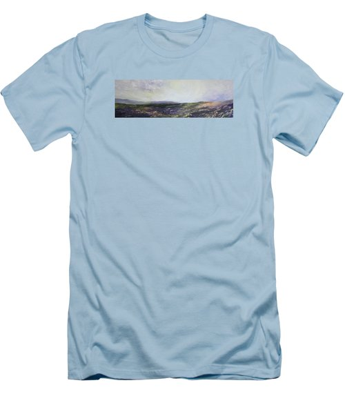Men's T-Shirt (Slim Fit) featuring the painting Yorkshire Moors by Jean Walker