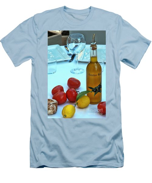 Men's T-Shirt (Slim Fit) featuring the photograph Your Table Is Ready by Allen Beatty