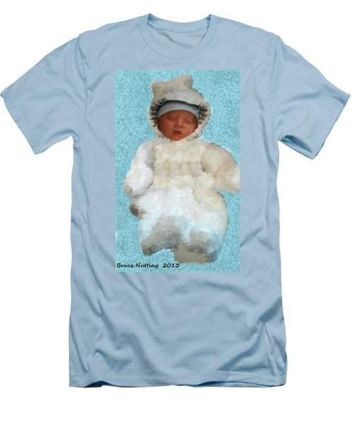 Men's T-Shirt (Slim Fit) featuring the painting Zachary by Bruce Nutting