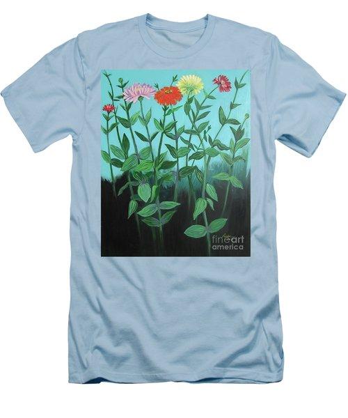 Zinnia Parade Men's T-Shirt (Athletic Fit)