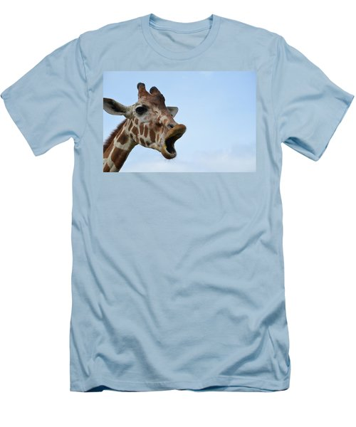 Zootography Giraffe Honking Men's T-Shirt (Athletic Fit)