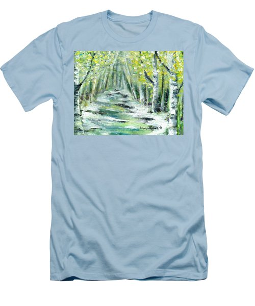 Men's T-Shirt (Slim Fit) featuring the painting Spring by Shana Rowe Jackson