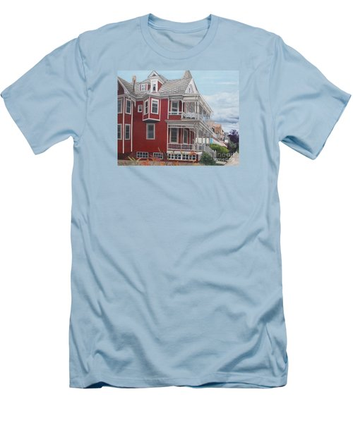 Victorian Afternoon Cape May Men's T-Shirt (Slim Fit) by Barbara Barber