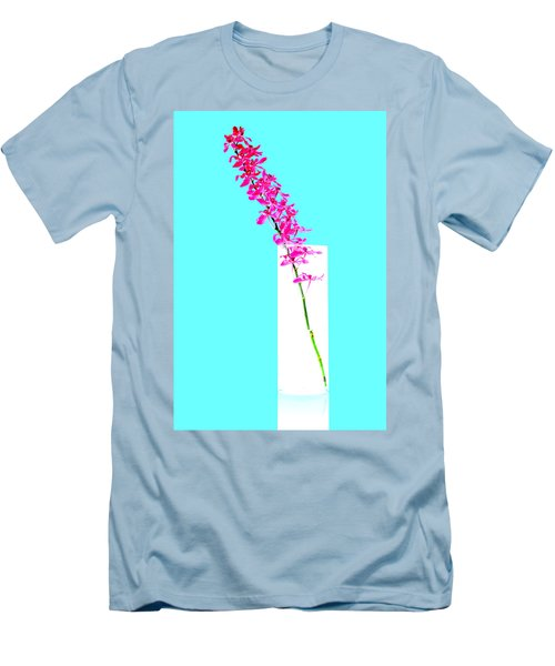 Red Orchid Bunch Men's T-Shirt (Slim Fit) by Atiketta Sangasaeng