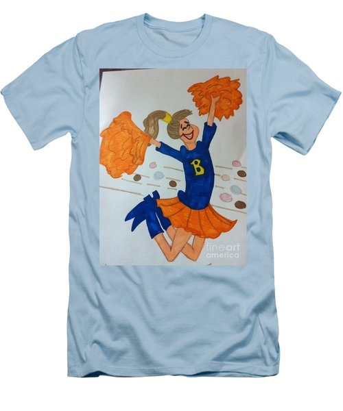 A Cheerful Cheerleader Men's T-Shirt (Athletic Fit)
