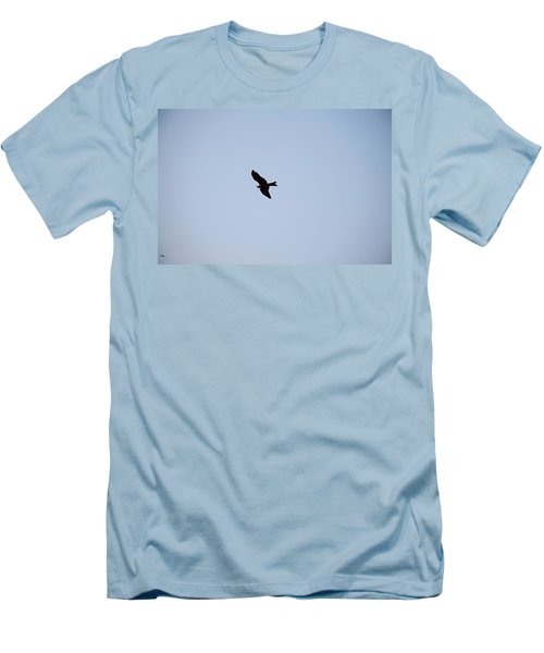 A Kite Flying High In The Sky Men's T-Shirt (Slim Fit) by Ashish Agarwal