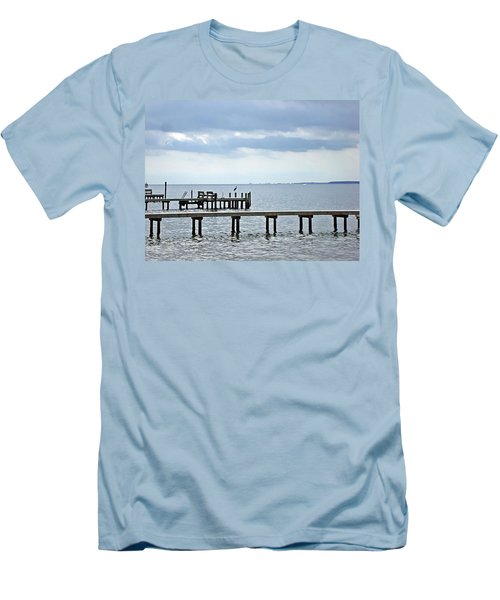 A Stormy Day On The Pamlico River Men's T-Shirt (Athletic Fit)