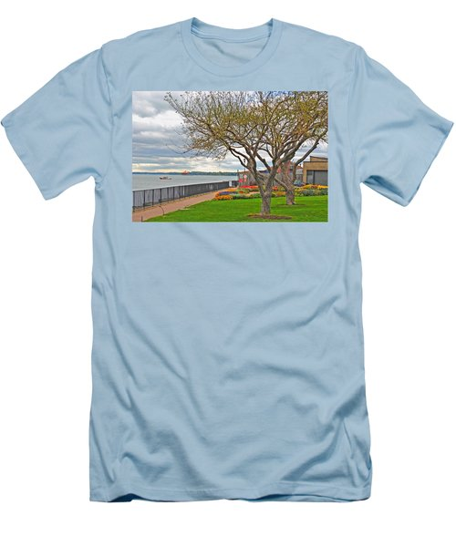 Men's T-Shirt (Slim Fit) featuring the photograph A View From The Garden by Michael Frank Jr