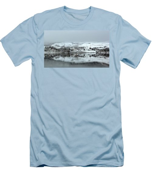 Men's T-Shirt (Slim Fit) featuring the photograph A Winter's Scene by Lynn Bolt