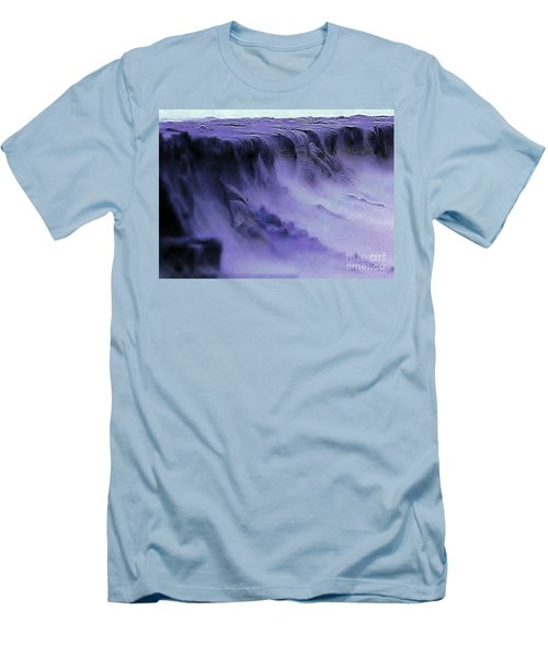 Men's T-Shirt (Slim Fit) featuring the photograph Alien Landscape The Aftermath by Blair Stuart