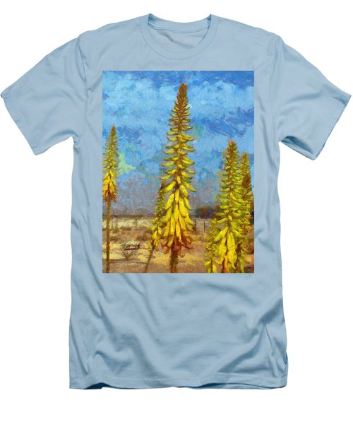 Aloe Vera Flowers Men's T-Shirt (Athletic Fit)
