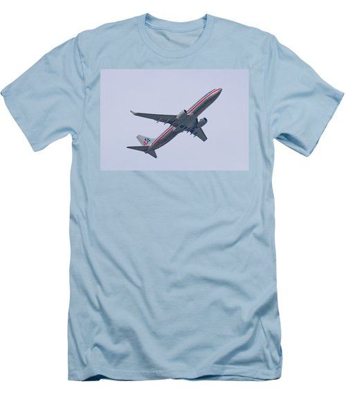 American Airlines Men's T-Shirt (Slim Fit) by John Black