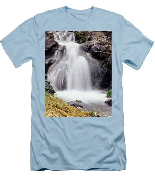 Men's T-Shirt (Slim Fit) featuring the photograph Angel Hair by Sharon Elliott