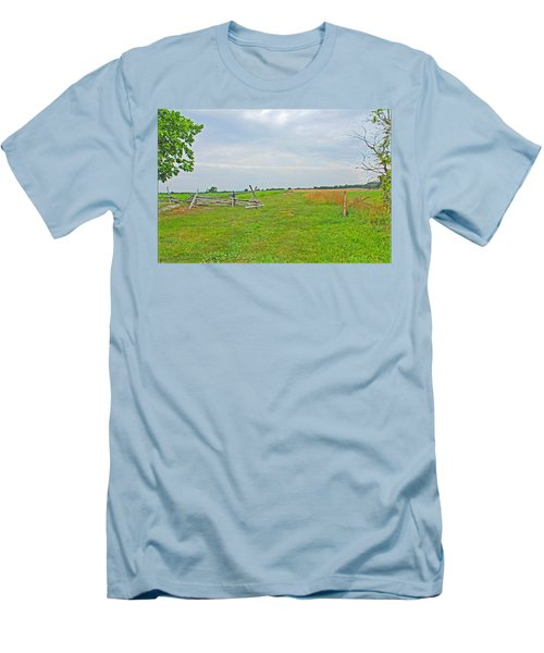 Men's T-Shirt (Slim Fit) featuring the photograph Antietam Battle Of The Cornfield by Cindy Manero