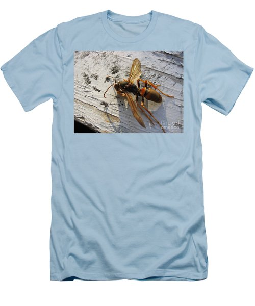Men's T-Shirt (Slim Fit) featuring the photograph Apache Red Wasp by Mark Robbins