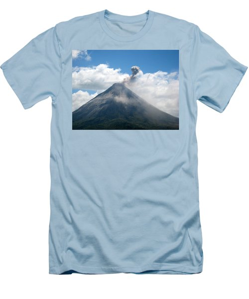 Men's T-Shirt (Slim Fit) featuring the photograph Arenal Eruption by Eric Tressler