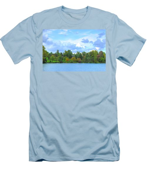Men's T-Shirt (Slim Fit) featuring the photograph Autumn's Beauty At Hoyt Lake by Michael Frank Jr