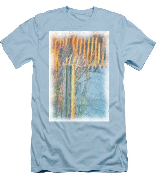 Men's T-Shirt (Slim Fit) featuring the photograph Beach Fence by Lynne Jenkins