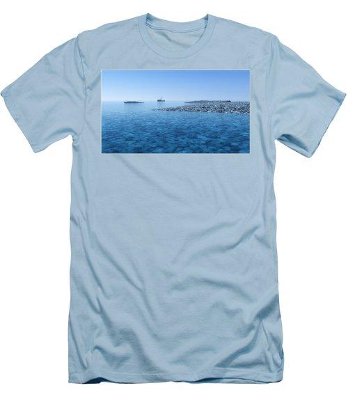 Men's T-Shirt (Slim Fit) featuring the digital art Blue Infinity... by Tim Fillingim