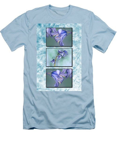 Men's T-Shirt (Slim Fit) featuring the photograph Bluebell Triptych by Steve Purnell