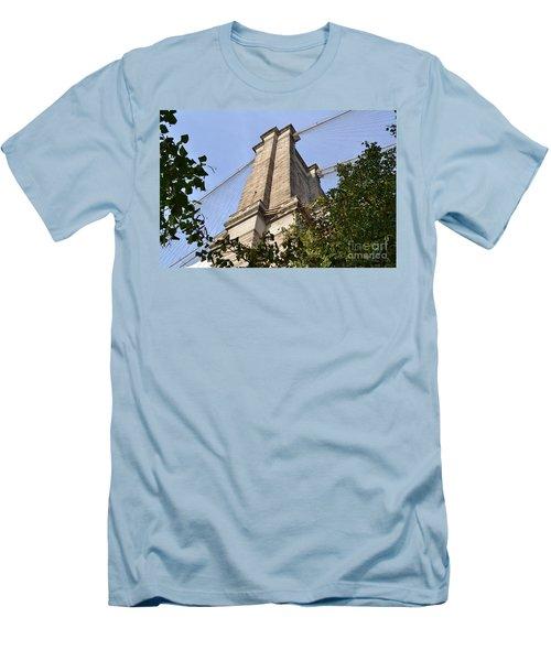 Brooklyn Bridge2 Men's T-Shirt (Slim Fit) by Zawhaus Photography