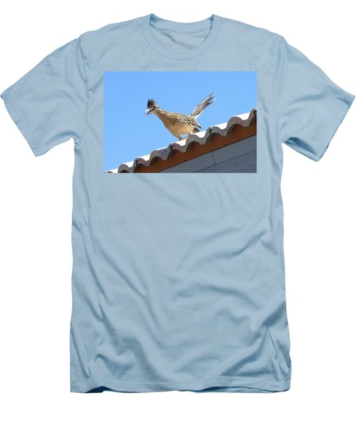 Men's T-Shirt (Slim Fit) featuring the photograph California Roadrunner by Carla Parris